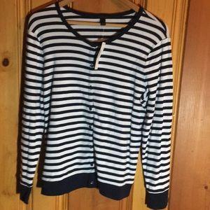 JCrew striped cardigan NWT